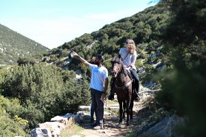 Guided trail riding Sifnos